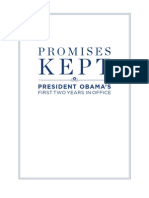 President Obama Promises Kept (first 2 years in office)