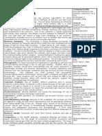 Gen Methanol One Page Summary 28Dec10 (2)