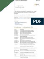 Atalhos Excel 2007