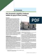 Dois documentos epigráficos medievais inéditos da igreja de Boim (Lousada)