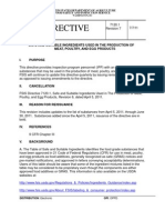 Safe Suitable Ingredients - FSIS Directive 7120.1 Revision 7
