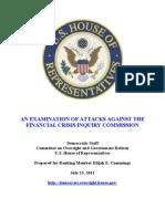 Democrat Report On GOP Partisanship on FCIC Panel