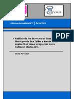 Análisis Academico sobre los Servicios en línea del Municipio de San Isidro a través de su página Web como integración de su Gobierno electrónico.