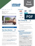 2011 Edinburgh Marathon Final Details PDF