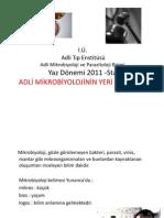 Adli Mikrobiyoloji - Yard. Doç. Dr. Hüseyin ÇAKAN