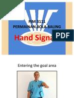 Hand Signal for Handball