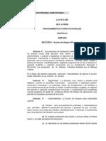 Ley de Los Procedimientos Constitucionales 8369