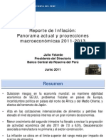 Reporte Macroeconomico BCR Junio-2011
