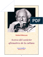 Harbert Marcuse - Acerca del carácter afirmativo de la cultura.