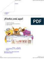 Navegador web Firefox en español de España