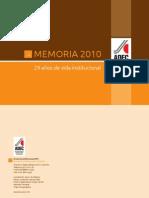 Memoria Institucional ADEC 2010