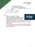 Radian & Degree & a Trick