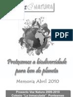 Memoria Voz Natura 2011 Completa