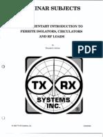 TX Rx Elementary Introduction to Ferrite Isolators Circulators and Rf Loads