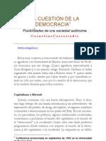 Cornelius Castoriadis - La Cuestion de La Democracia
