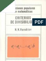 Criterios de Divisibilidad - Vorobiov