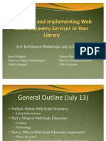 Evaluating and Implementing Web Scale Discovery Services