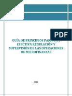 Guia de Principios Para Una Efectiva Regulacion y Supervision de Las Operaciones de Microfinanzas