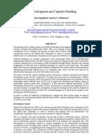 SDI Development and Capacity Building