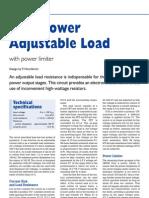 High Power Adjustable Load