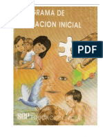 Programa de Educacion Inicial Sep 1992