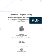 Zambian Diaspora Survey Report - 2011