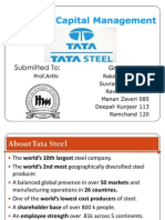 Group3- Working Capital Management at Tata Steel-ppt