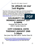 August 1, 2011 Rally Flyer