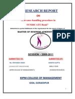 Namita Research Report