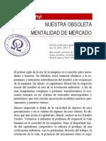 Karl Polanyi - Nuestra Obsoleta Mental Id Ad de Mercado.