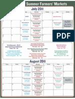 Northwest Bronx Farmers' Market Calendar