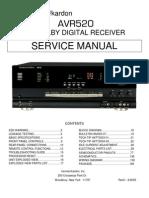 AVR520 Service Manual