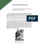 A CONSTITUIÇÃO PORTUGUESA DE 1933