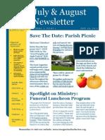 July & August Newsletter