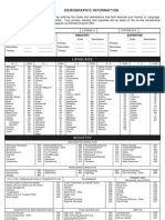 Demographic Information Form