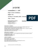 05 GCSE 1387 Paper 5 Nov 2003