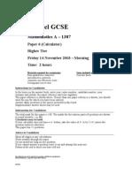 06 GCSE 1387 Paper 6 Nov 2003