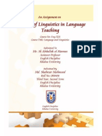 The Role of Linguistics in Language Teaching