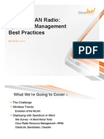 Wireless LAN Radio Spectrum Management Best Practices