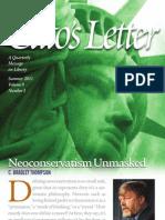 Neoconservatism Unmasked, Cato's Letter, Vol. 9 No. 3