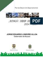 PLAN DE DESARROLLO boyacá deber de todos  2004 - 2007