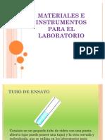 Materiales e Instrumentos Para El Lab Oratorio