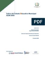 Indice Del Estado Educativo Municipal