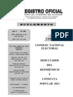 Resultados consulta popular 2011 Ecuador