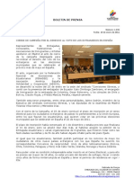 Cierre de campaña por el derecho al voto de los extranjeros en España. Foto66