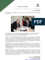 Embajador del Ecuador concursará para la designación de Fiscal General del Estado. Foto 68 y 69