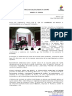 Éxito del concierto lírico con el que se conmemoró en Madrid el aniversario de la batalla de Pichincha. Foto82