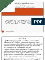 CONCEPTOS FUNDAMENTALES DE LOS SISTEMAS POLÍTICOS Y ECONÓMICOS