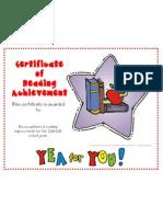 Reading Improvement Award