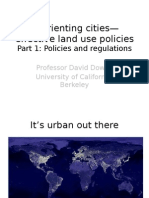 """Prof David Dowall - """"Reorienting cities - effective land use policies_Part 1"""""""